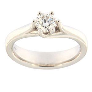 Kullast sõrmus teemantidega 0,51 ct. Kood: acredo8