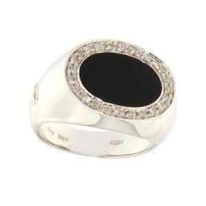 Золотая печатка с ониксом и бриллиантами Kод: b1037au