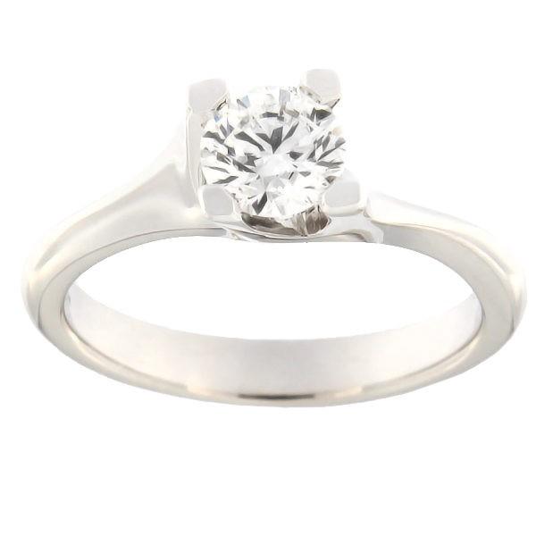 Kullast sõrmus teemandiga 0,70 ct. Kood: b8001uni