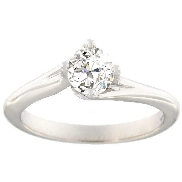Kullast sõrmus teemantiga 0,70 ct. Kood: b8029uni