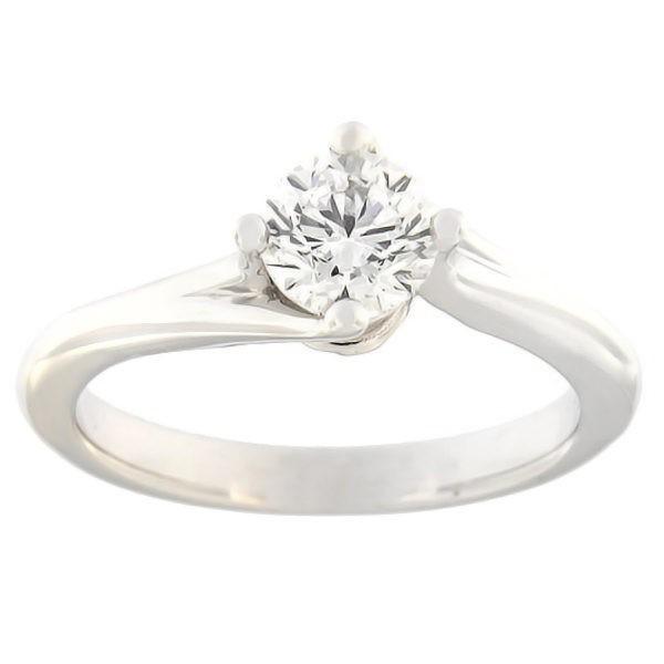Золотое кольцо с бриллиантoм 0,50 ct. Kод: c8029uni
