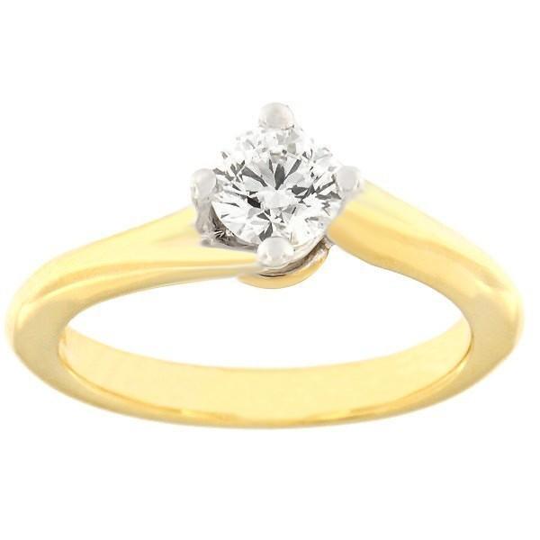 Kullast sõrmus teemantiga 0,50 ct. Kood: c8029unik-2020