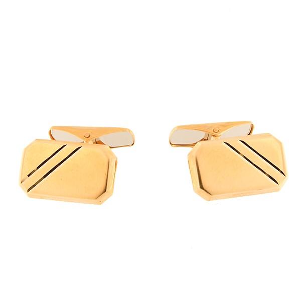 Золотая запонка Kод: cl0104