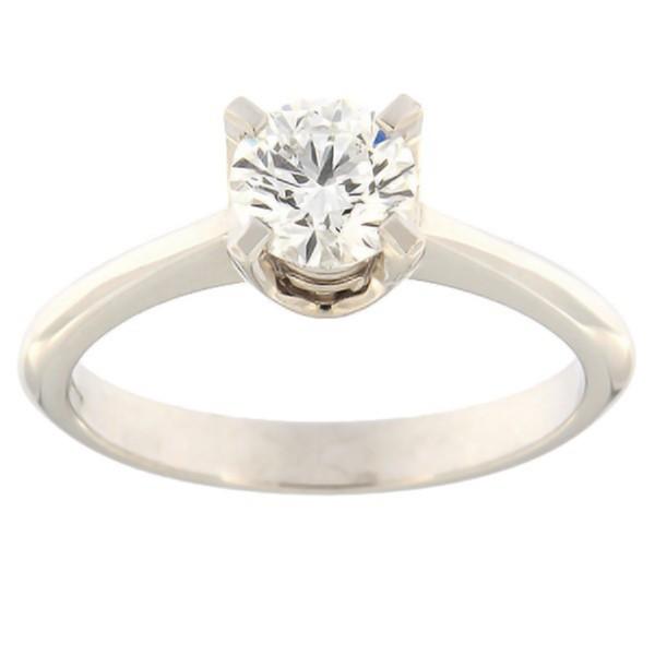 Kullast sõrmus teemantiga 0,70 ct. Kood: e8009uni