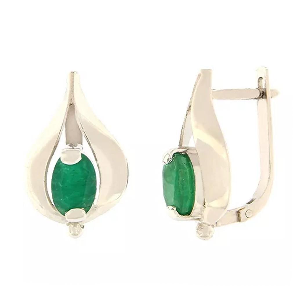 Kullast kõrvarõngad smaragdiga Kood: er0316-v-smaragd