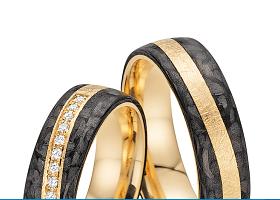 "Fischer abielusõrmused - Kollektsioon ""Carbon"""