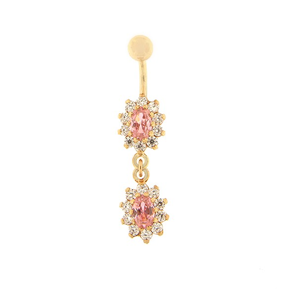 Kullast nabarõngas tsirkooniga Kood: pn0146-roosa-roosa