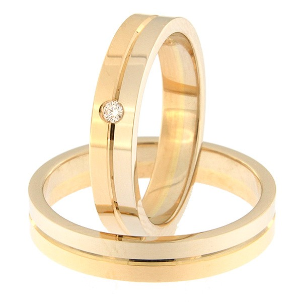 Kullast abielusõrmus Kood: rn0108-4-1/2vl-1/2kl-1k