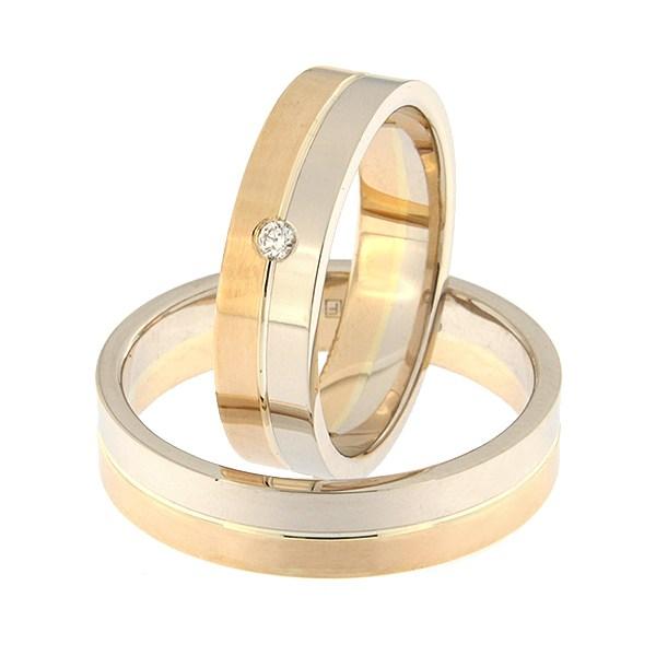 Kullast abielusõrmus Kood: rn0108-5-1/2vl-1/2km1-1k
