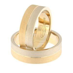 Gold wedding ring Code: rn0108-6-1/2vm2-1/2km2
