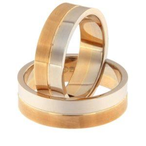 Gold wedding ring Code: rn0108-6-1/2vl-1/2km1
