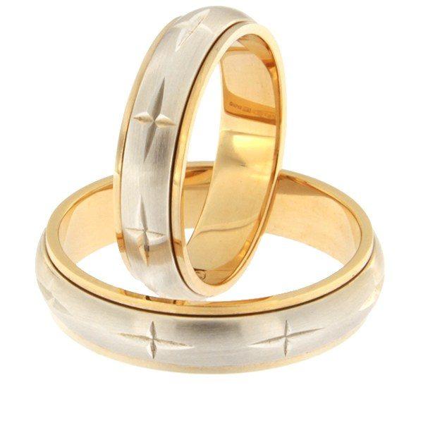 Kullast abielusõrmus Kood: rn0115-5-m1-ristidega