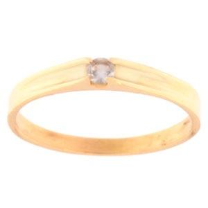 Kullast sõrmus tsirkooniga Kood: rn0121-helesinine