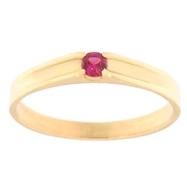 Gold ring with zircon Code: rn0121-punane