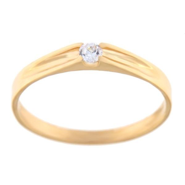 Kullast sõrmus tsirkooniga Kood: rn0121