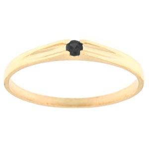 Kullast sõrmus tsirkooniga Kood: rn0122-must