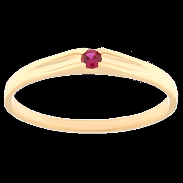 Kullast sõrmus tsirkooniga Kood: rn0122-punane