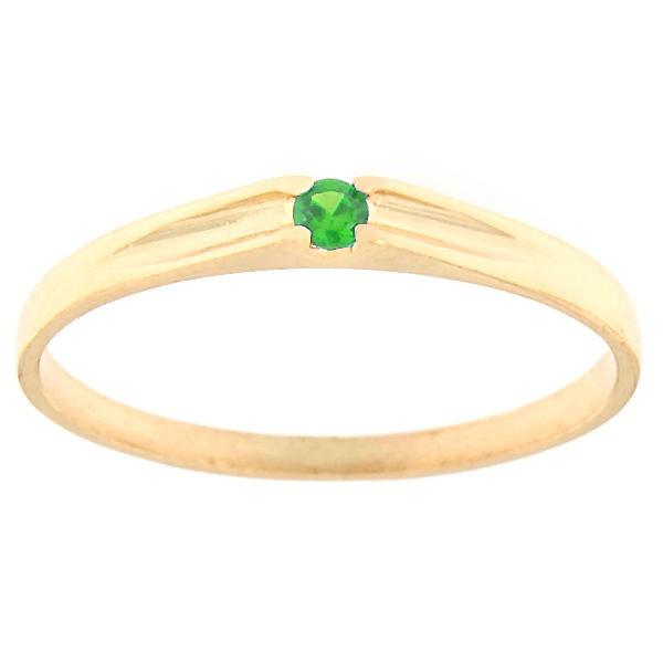 Kullast sõrmus tsirkoonidega Kood: rn0122-roheline