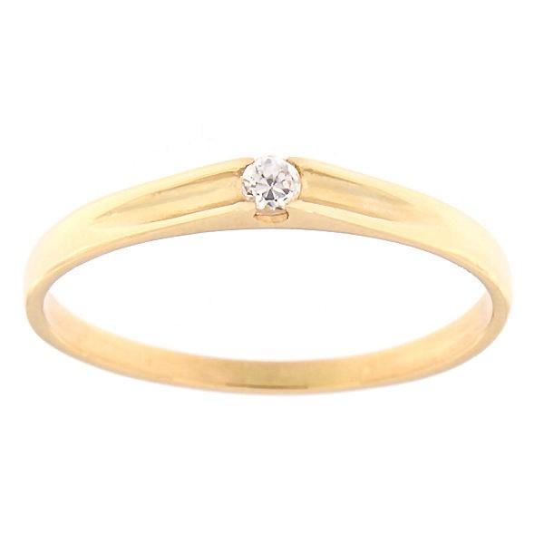Kullast sõrmus tsirkooniga Kood: rn0122-valge