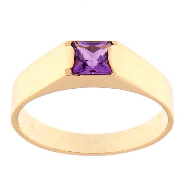 Kullast sõrmus ametüstiga Kood: rn0123-ametyst