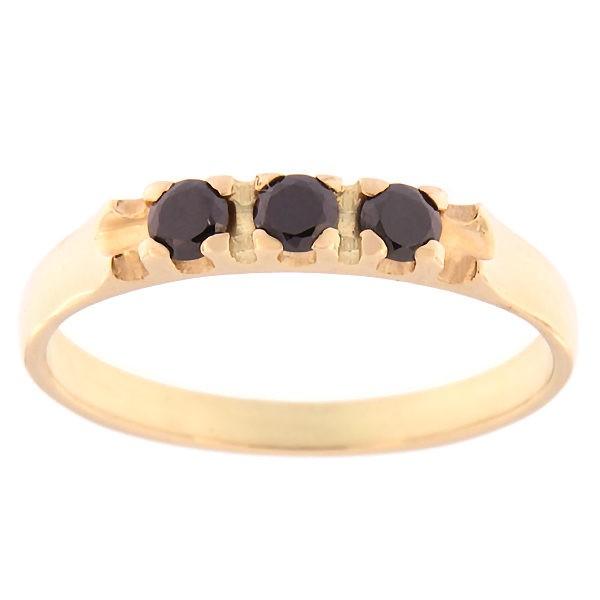 Kullast sõrmus tsirkoonidega Kood: rn0126-must