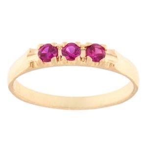 Kullast sõrmus tsirkoonidega Kood: rn0126-punane