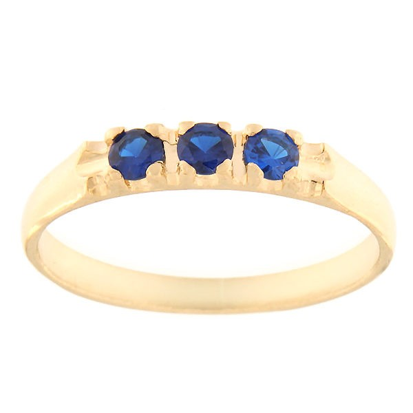 Gold ring with zircons Code: rn0126-tumesinine