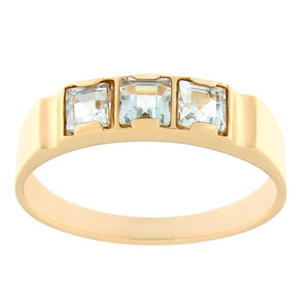 Kullast sõrmus topaasiga Kood: rn0128-topaas