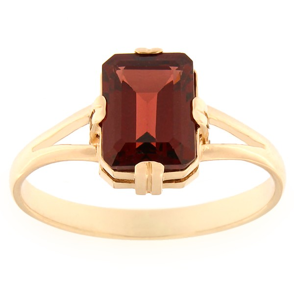 Gold ring with garnet Code: rn0129-granaat