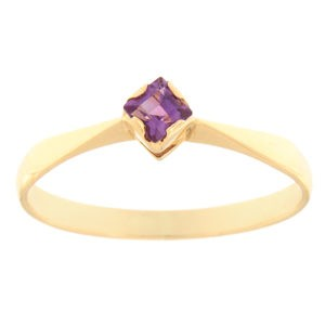 Kullast sõrmus ametüstiga Kood: rn0135-ametyst
