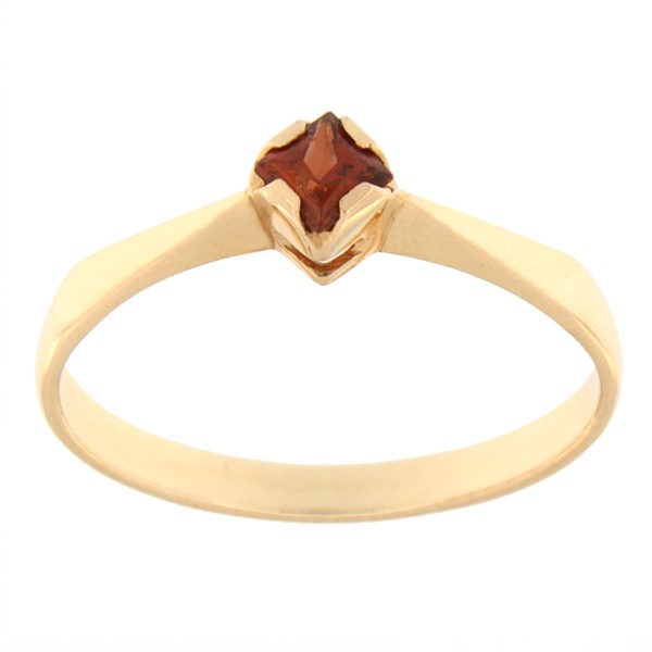 Gold ring with garnet Code: rn0135-granaat