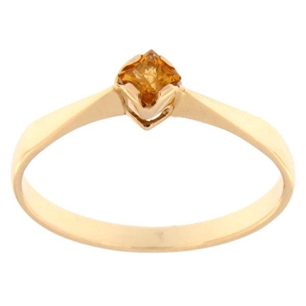 Kullast sõrmus tsitriiniga Kood: rn0135-zitriin