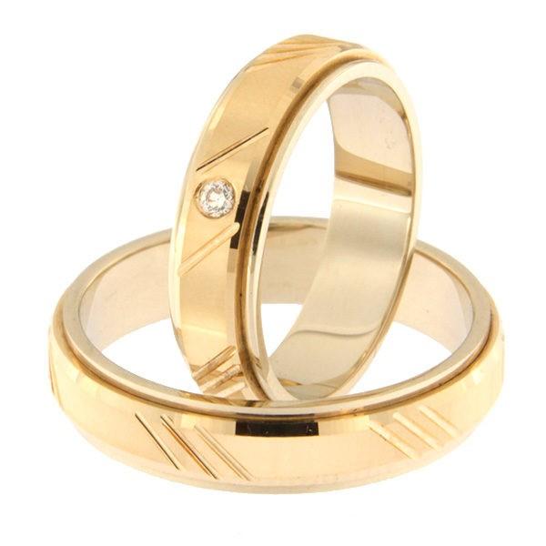 Kullast abielusõrmus teemantiga Kood: Rn0138-5d-pk-av-1k