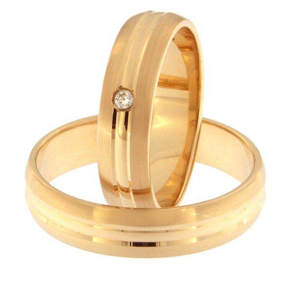 Kullast abielusõrmus teemantiga Kood: Rn0154-5-km3-1k