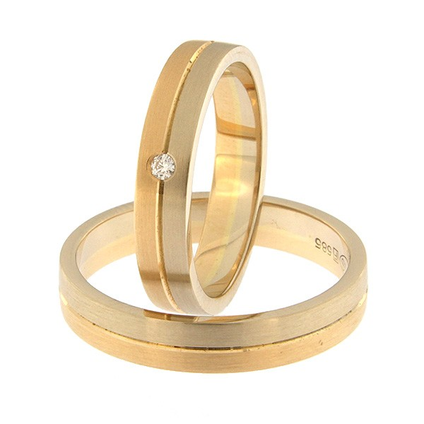Kullast abielusõrmus Kood: rn0166-4-1/2vm1-1/2km1-1k