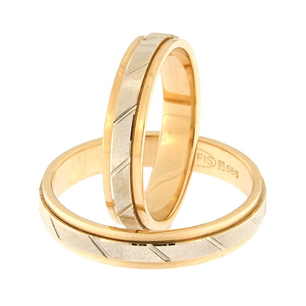Kullast abielusõrmus Kood: rn0168-4d-pv-ak