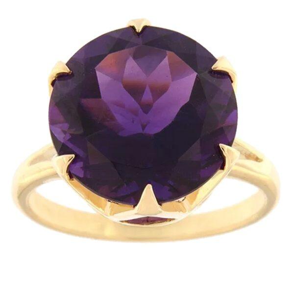 Kullast sõrmus ametüstiga Kood: rn0170-14-ametyst