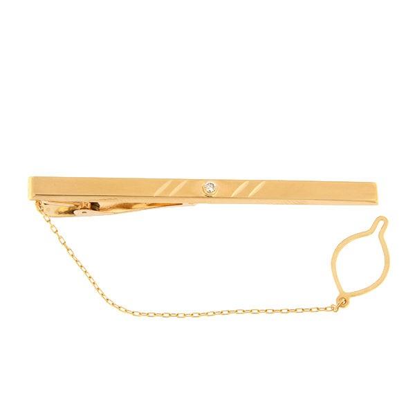 Золотая булавка для галстука с цирконом Kод: tp0105