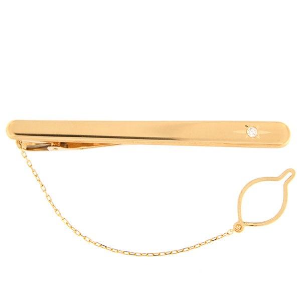 Золотая булавка для галстука с бриллиантом Kод: tp0106