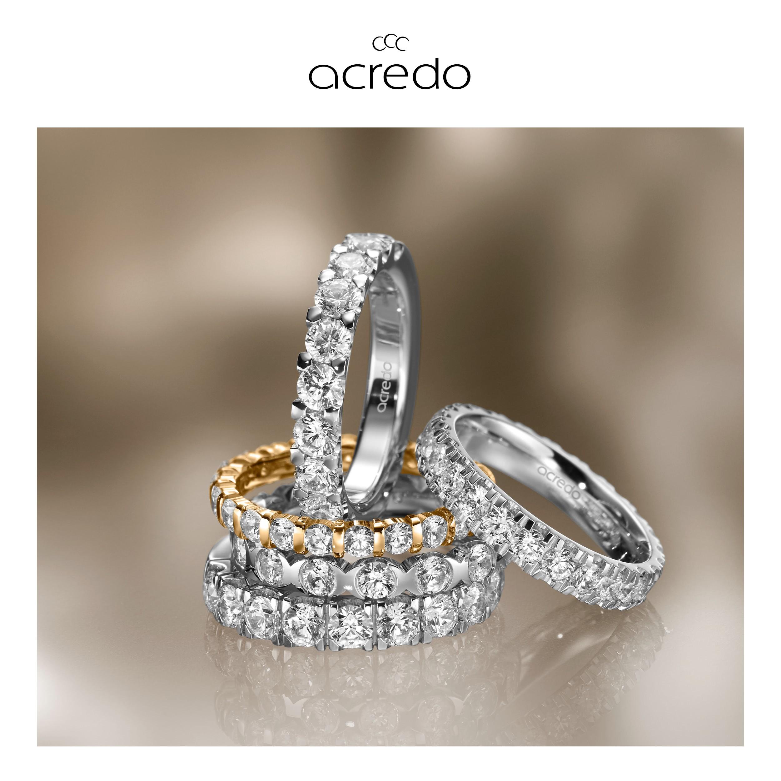 MATIGOLD - Acredo kihlasõrmus teemantidega