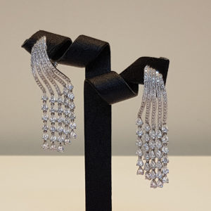 Silver earrings Code: OR5408 RO/DD