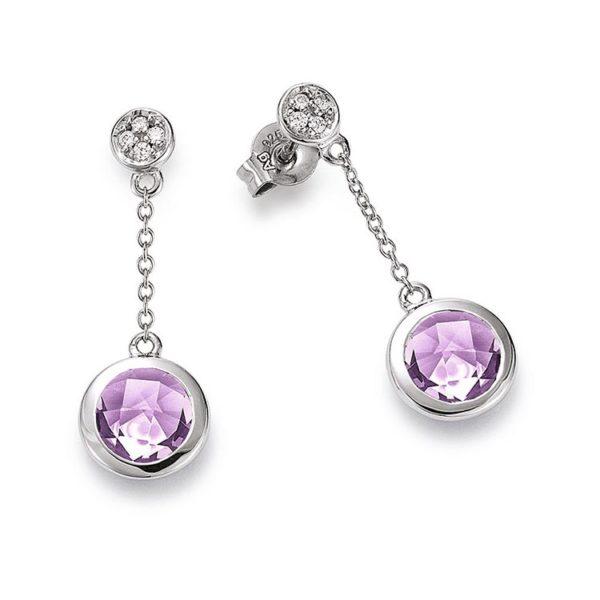 Viventy earrings with amethyst Code: 777894