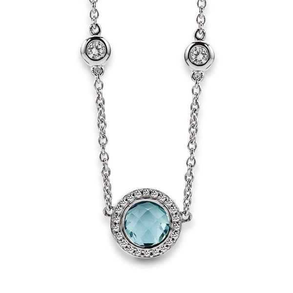 Viventy silver pendant with topaz Code: 779408