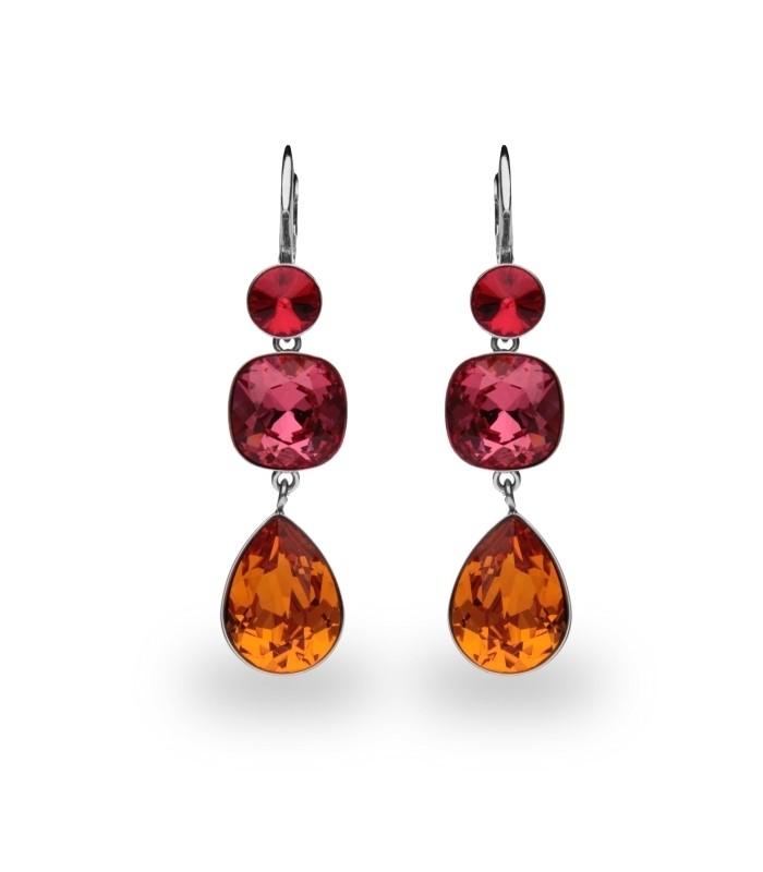 Hõbedast kõrvarõngad Swarovski® kristallidega Kood: KAT43201LSITG1