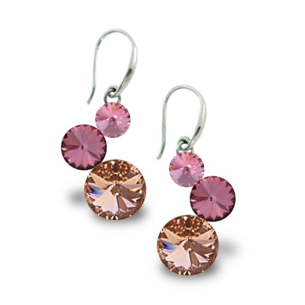Silver earrings with Swarovski® crystals Code: KW11223R
