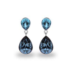 Hõbedast kõrvarõngad Swarovski® kristallidega Kood: K43202AQDB