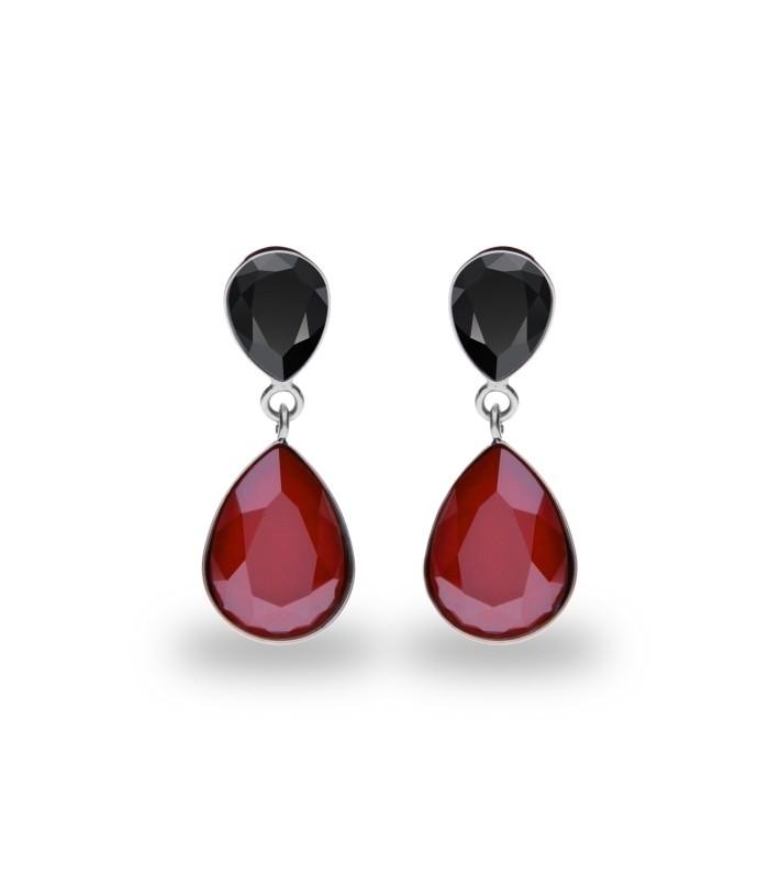 Hõbedast kõrvarõngad Swarovski® kristallidega Kood: K43202JRR