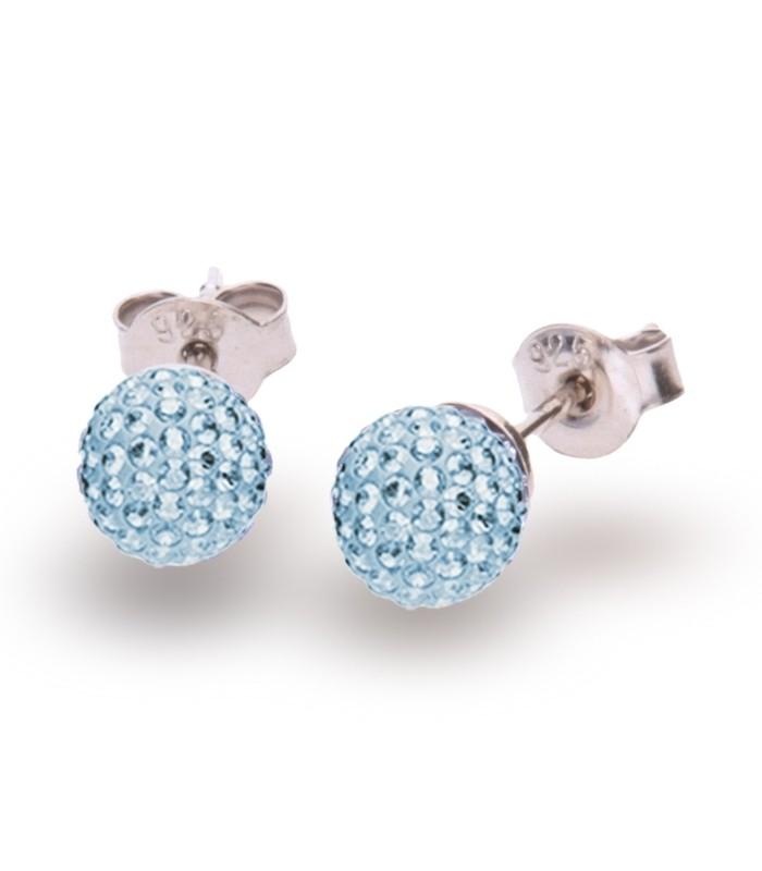 Hõbedast kõrvarõngad Swarovski® kristallidega Kood: K860016AQ