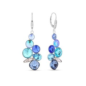 Hõbedast kõrvarõngad Swarovski® kristallidega Kood: KA1122MIX1DB
