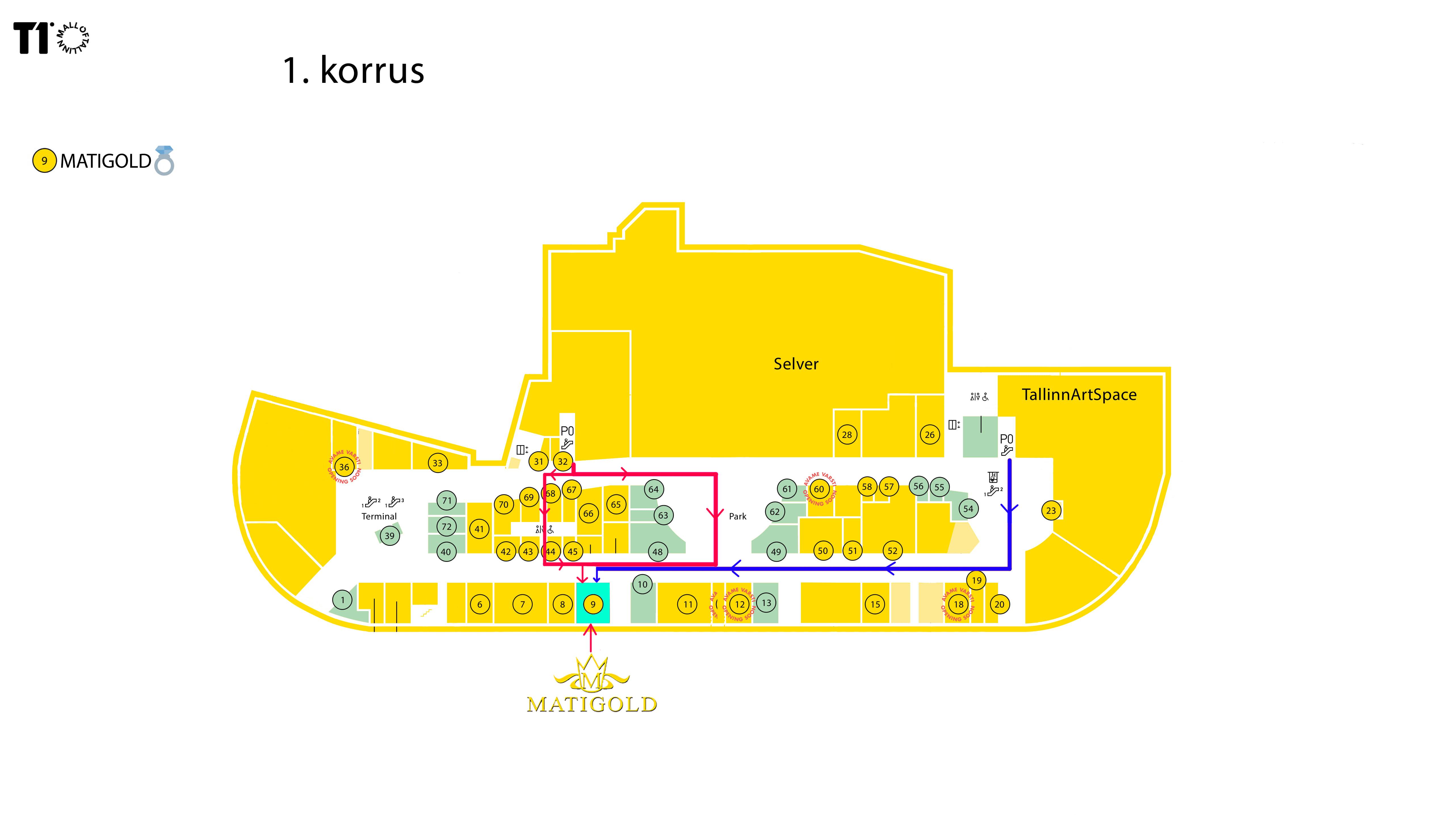 T1 Mall of Tallinn - MATIGOLD - Mati Kullaäri - Majaplaan - Kus me asume? - Kus Mati kullaäri asub? Kus MATIGOLD asub?